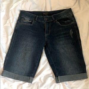 2 for 15! Dark wash Bermuda Jean Shorts